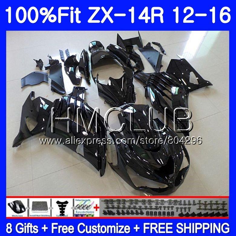 Injection Pour KAWASAKI noir Complet NINJA ZX 14R ZX14R 12 11 13 14 15 16 50HM. 3 ZZR1400 ZX-14R 2011 2012 2013 2014 2015 Carénage