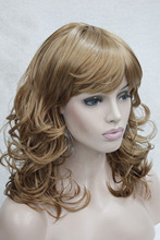 Hivision charming medium length curly women's bangs wig color 27C Free shipping –