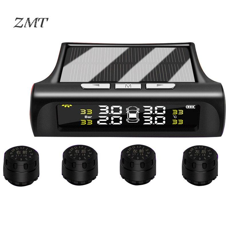Mini Car Tire Pressure Monitoring TPMS Wireless High precision Solar System External Buzzing Alarm Tire Pressure Detector T88AJ