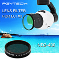 PGY Lens Filters for DJI OSMO inspire1 X3 accessories HD ND2-400 DJI X3 gimbal Lens Filter Quadcopter drone parts accessories