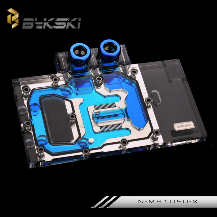 Bykski N-MS1050-X Full Cover Graphics Card Water Cooling Block  for MSI GTX 1050Ti Gaming X 4GB brand new gtx1050ti 4gx gaming oc computer game independent graphics card 4gb gddr5 128bit gefore gtx 1050 ti graphics for zotac