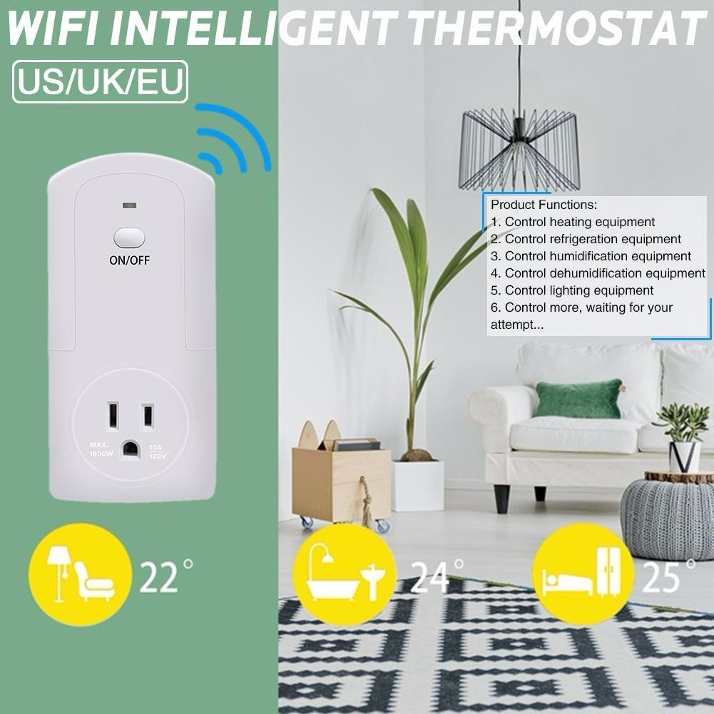 Socket Controller Wireless Remote Power Temperature Humidity Monitoring Sensor Wifi EU US UK Plug For Smart Home module
