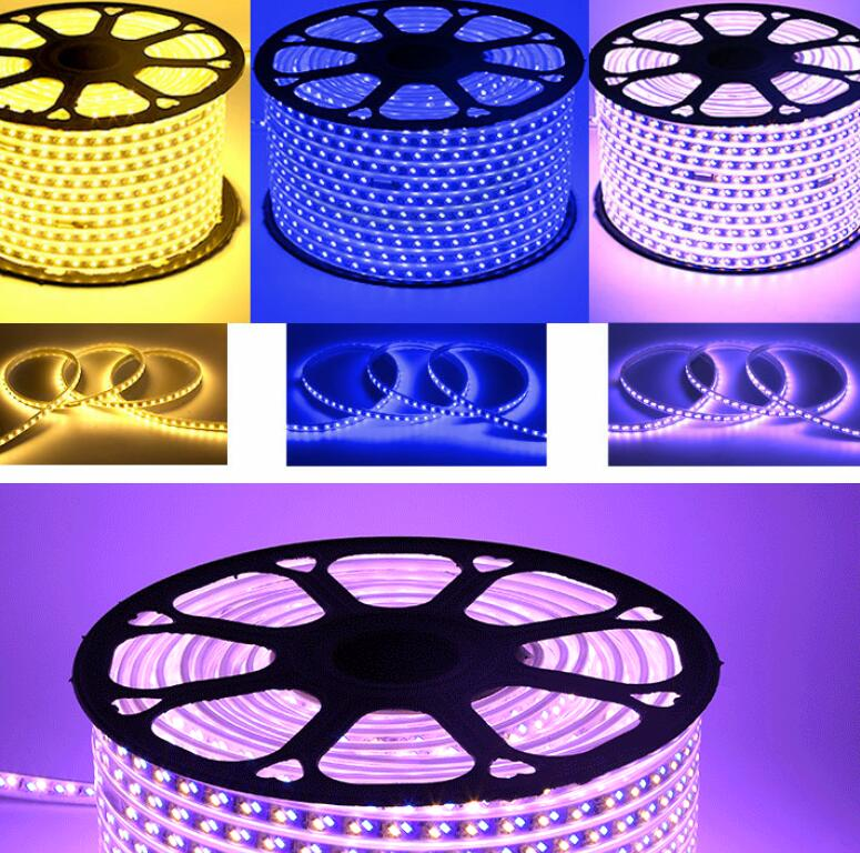 220V 120leds/m dimmable warm white white flexible LED strip 5730 5630 SMD tape light Waterproof for home Decorations - 4