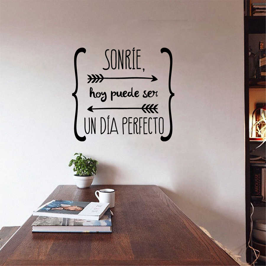 Spanish Wall Stickers Home Decor ,   Spanish Art Quote Vinyl Walls Decals Wallpaper for Living Room Home Decoration