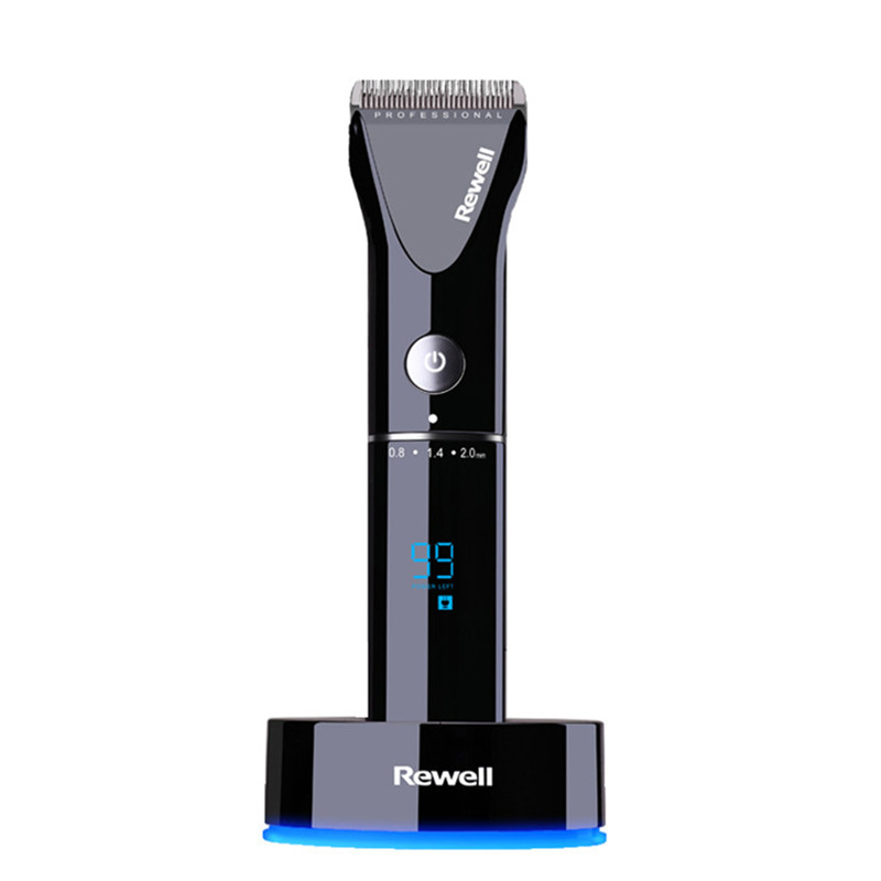 Professional hair clipper wiederaufladbare trimmer lithium batterie Titan legierung klinge cutter einstellbare kamm Feine tuning 100 240 V-in Haar-Trimmer aus Haushaltsgeräte bei  Gruppe 2
