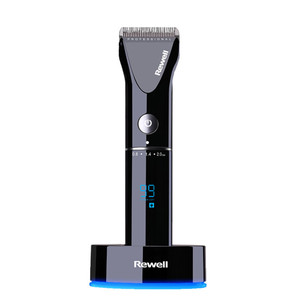 Image 2 - professional hair clipper rechargeable trimmer lithium battery Titanium alloy blade cutter adjustable comb Fine tuning 100 240V