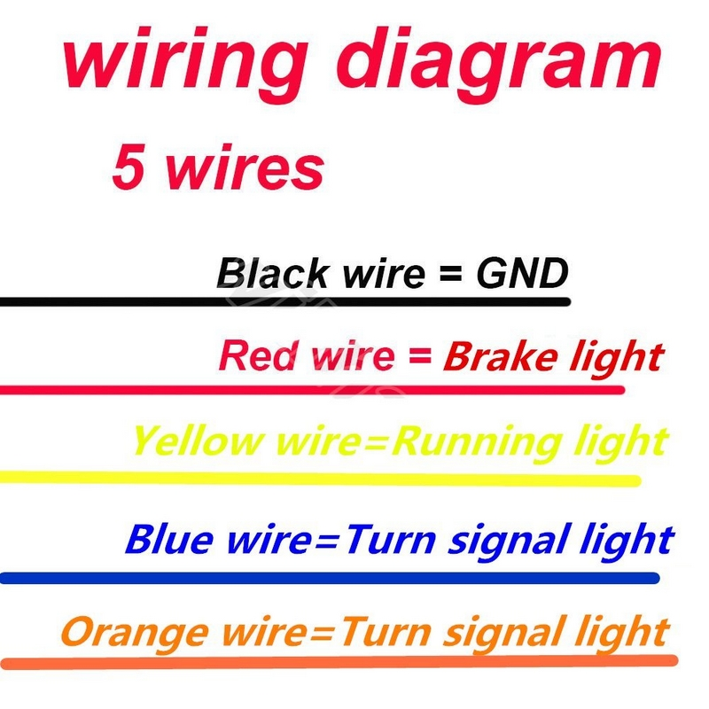 Led Stop Turn Tail Light Wiring Diagram | Wiring Diagram Harley Rear Fender Wiring Diagram on