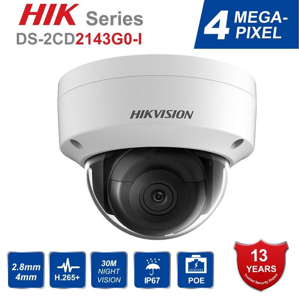 Hik Original Versão Noite câmera de CCTV Segurança de Rede IP Câmera Dome IR Fixa DS-2CD2143G0-I IP67 4MP CMOS com Slot Para Cartão SD