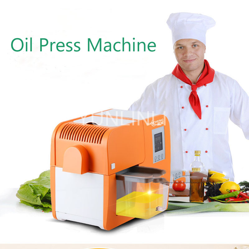 Electric Peanut Coconut Oil Extractor Stainless Steel Oil Press Machine Automatic Oil Press Machine ZYJ188 new automatic small home oil press machine cold hot press for peanut coconut sunflower seeds oil extractor oil press machine