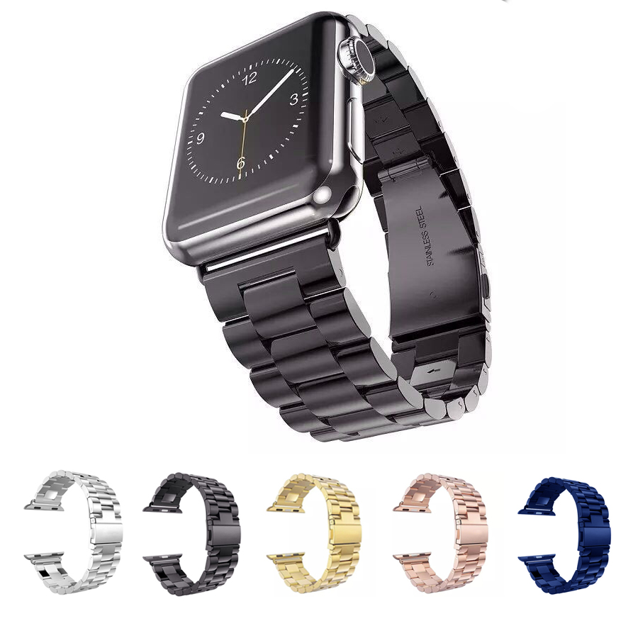 Prix pour URVOI bande pour apple watch bracelet/bracelet en acier inoxydable lien bracelet 38mm 42mm 6 couleurs nouvelle couleur coloré conception avec adaptateur