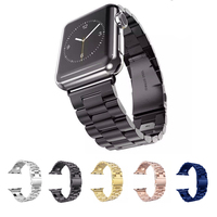 URVOI Band For Apple Watch Strap Wrist Stainless Steel Link Bracelet 38mm 42mm 5 Colors New