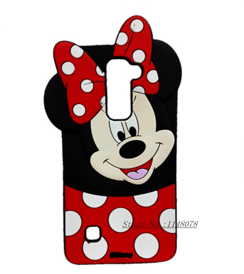 For LG G4 Stylus 2 Case 3D Minnie Mouse Cute Cartoon Silicon Cover Case For LG G4 Stylus 2 Stylus2 LS775