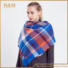 za Winter 2016 Tartan Scarf Plaid Scarf New Designer Unisex Acrylic Basic Shawls Women's Scarves hot sale za scarf
