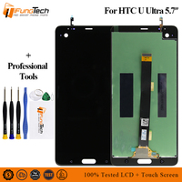 For 5.7 HTC U ULtra LCD Screen Display+Touch Panel Digitizer Screen Frame For HTC U Ultra Assembly Lcd Display
