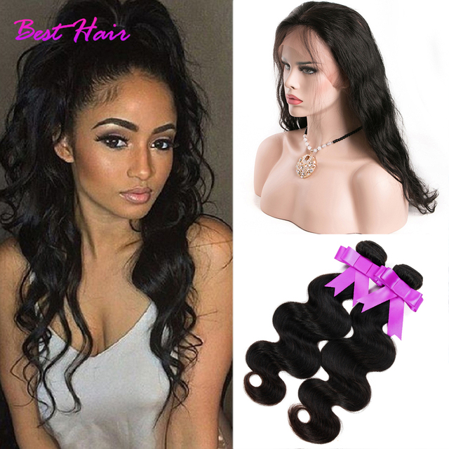 8A 360 Lace Frontal Closure With Bundles Peruvin Virgin Hair Body Wave Bundles Full Lace Frontal 360 Closure With Bundles Deals