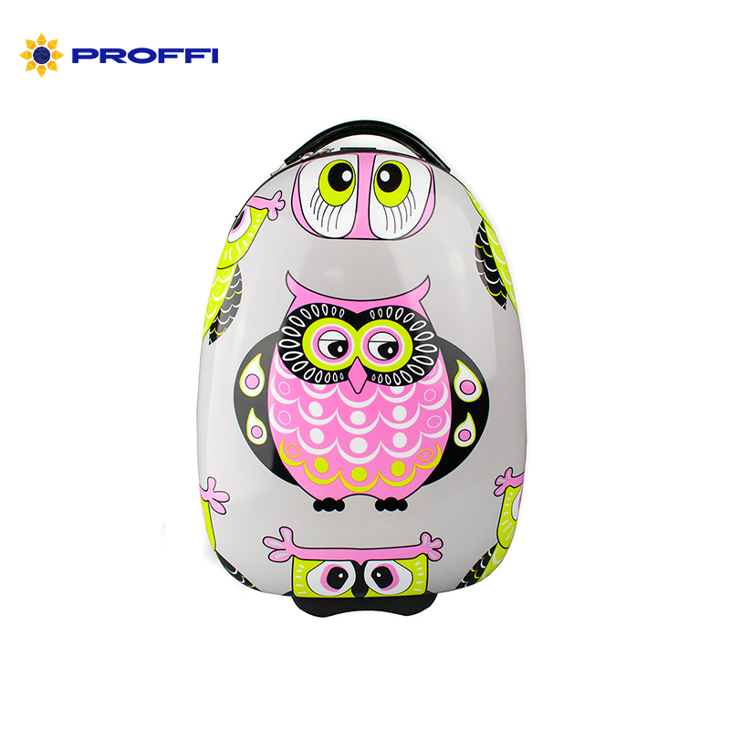Bright children's suitcase PROFFI TRAVEL capacious colored with a retractable handle for a child XS PH8831 on wheels on wheels