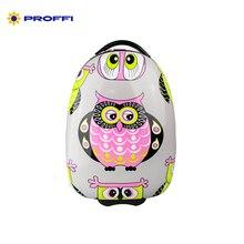 Детский чемодан на колесах с принтом «Совушка» PROFFI TRAVEL PH8831 пластиковый, размер XS (45х29х21 см)