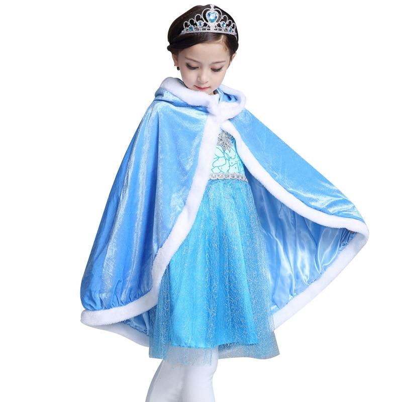 Қыс 2017 Қыздар Elsa Cloak Қыздар Плюс Velvet - Балалар киімі - фото 1