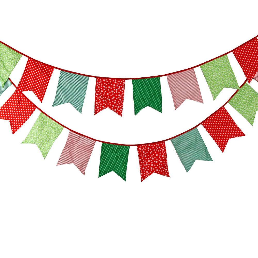 Popular Korean Bunting 12 Flags Party Bunting Felt Banners