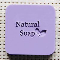 Natural Handmade Soap Seal Stamp Leaf Pattern Acrylic Mold Chapter