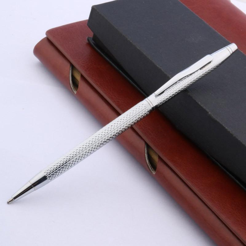 Silver Twist Wave Pattern Of Wire Drawing Process METAL Ballpoint Pen