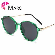 MARC 2019 Fashion Round Sunglasses Wrap Eye Wear Solid Women glasses Vintage eye Brand Design 1
