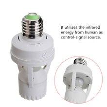 Ajustable 360 Degree Smart PIR Infrared Ray Motion Sensor light Switch 110V-240V E27 LED lamp Bulb Holder Switch Detector