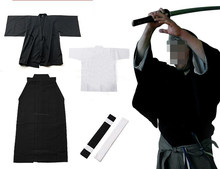 5color 4pcs/set top quality Traditional Japanese samurai suits martial arts Aikido clothing Iaido uniforms Hakama KendoGI(China)