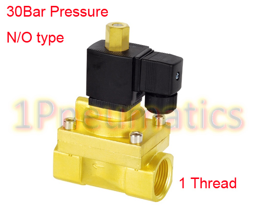 Free Shipping 30Bar High Pressure High Temperature Piston type Electromagnetic Valve G1'' 1PC-5231025K AC220V rice cooker parts steam pressure release valve
