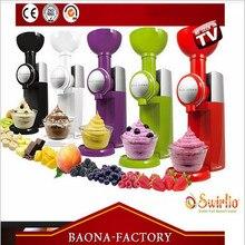 220 V Büyük Patron Swirlio Otomatik Dondurulmuş Meyve Tatlı Makinesi Meyve Dondurma Makinesi Milkshake Makinesi AB Tak Ile