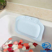 US Cushioned Tub Spa Bath Pillow PVC Foam Soft Bathroom Bath Pillows Suction Cups Relaxing Bathtub Head Neck Rest Pillows
