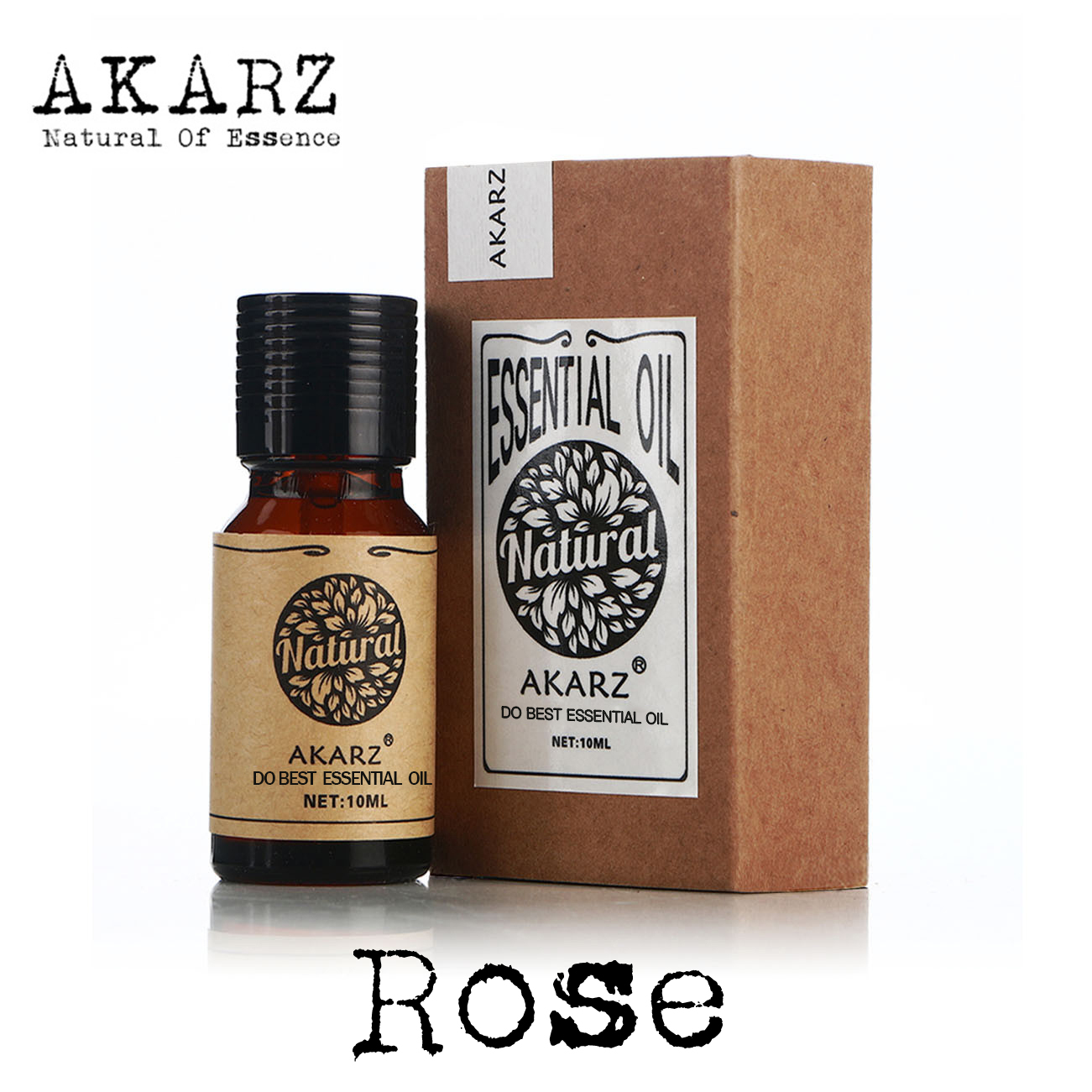 Rose Essential Oil AKARZ Famous Brand Natural Oiliness Cosmetics Candle Soap Scents Making DIY Odorant Raw Material Rose Oil