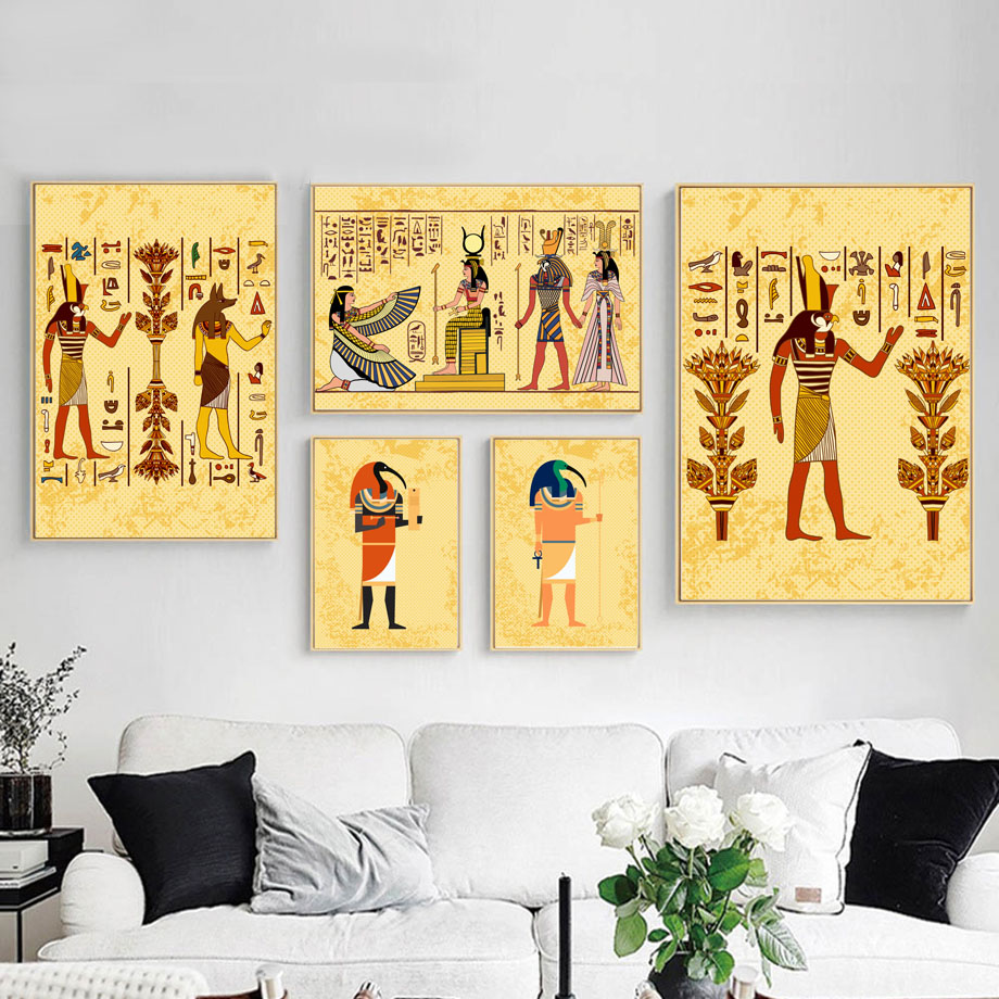 Egyptian Pyramid Mural Cleopatra Queen Wall Art Canvas Painting Nordic Posters And Prints Pictures For Living Room Decor