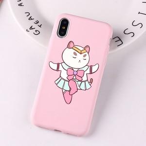 Чехол для телефона с Пчелой и щенком, щенком, котом, мультяшным героем, Ctue, розовый цвет, чехол для iPhone Xs 8 7 6S Plus XS MAX XR, силиконовый чехол