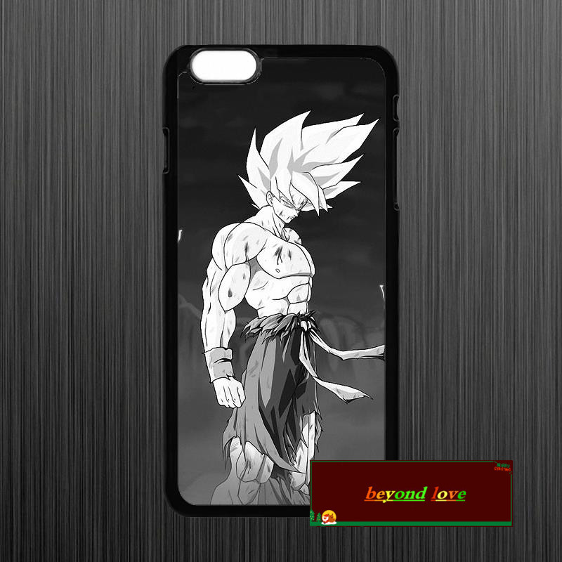 Super Saiyan Dragon ball Z Goku Cover case for iphone 4 4s 5 5s 5c 6 6s plus samsung galaxy S3 S4 mini S5 S6 Note 2 3 4 zw0221