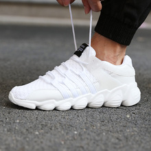 HOT NEW 2019 New High Quality Men Casual Shoes Fashion brand soft breathable Lace-up male shoes six colors plus size 39-46 brand new quality hot elegant sweet women wedge sandals beige black blue lady fashion casual shoes em38 plus big size 32 43