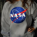 NASA Hoody Sweatshirts Hoodies Casual Sweatshirts Long Sleeve Crew Neck Tops S-XL