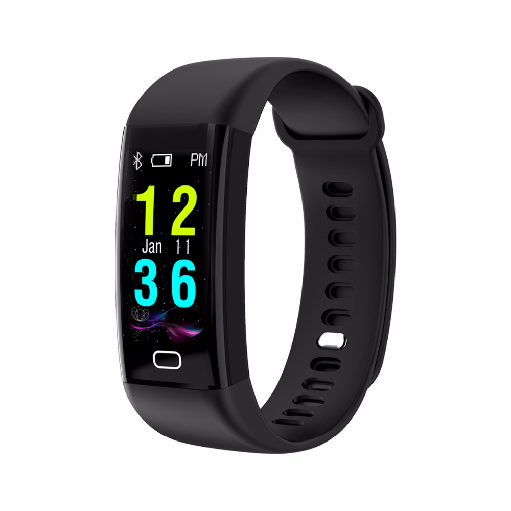 DeaGea Waterproof Smart Band F07 Pedometer Fitness Sleep Heart Hate Tracker Smartband Alarm Clock Color Screen Wristband
