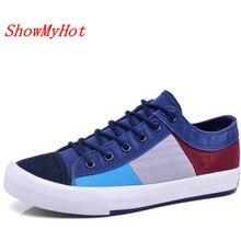 ShowMyHot/Новое поступление; Летняя мужская Тканевая обувь; дышащая модная мужская повседневная парусиновая обувь; zapatos hombre; теннисная обувь; размеры 38-44