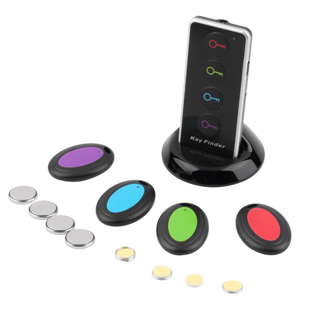 מרחוק אלחוטי מפתח LED Finder מקלט אבוד דבר אזעקה Locator טלפון ארנקים נגד אבוד עם לפיד פונקציה 4 מקלטים 1 רציף