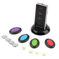 Remote Wireless LED Key Finder Receiver Lost Thing Alarm Locator Phone Wallets Anti-Lost with Torch function 4 receivers 1 dock