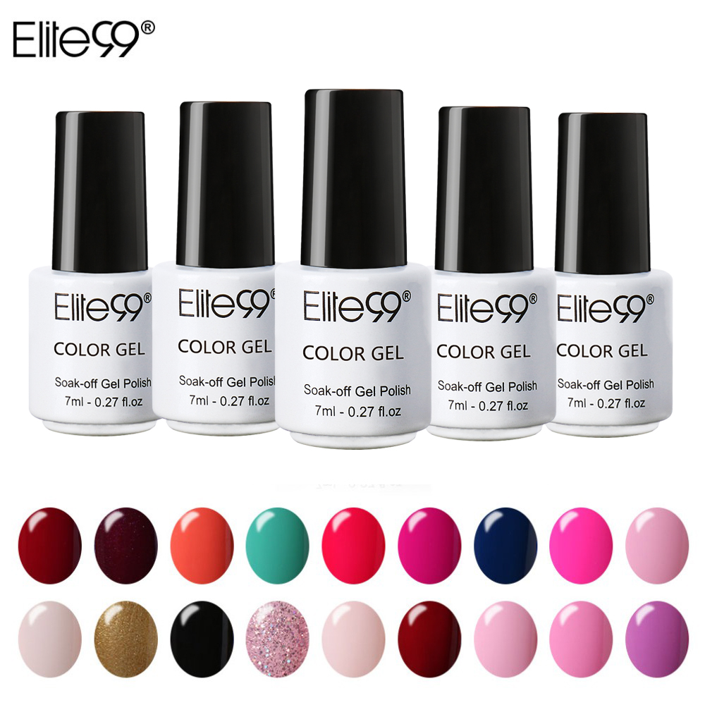 Elite99 Gel Kuku UV LED Permen Warna 58 Warna 7 ML Rendam Off Varnish Base Coat Cat Kuku tahan lama