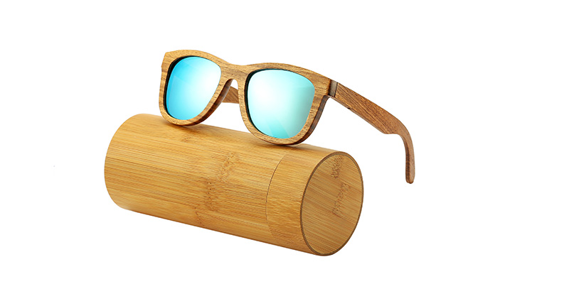 AN SWALLOW New 100% Real Zebra Wood Sunglasses Polarized Handmade Bamboo Mens Sunglass Sun glasses Men Gafas Oculos De Sol Mader 9