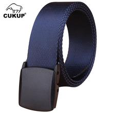 CUKUP Brand Name Designer Quality Outdoor Wear Resistant Canvas Belts Thickening Plastic Buckle Male Accessories Belt CBCK074