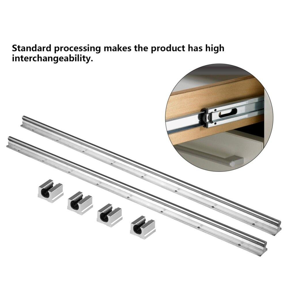 2pcs SBR12 800mm 12MM Linear Bearing Rail Slide Guide Shaft 4pcs SBR12UU Blocks Good Quality