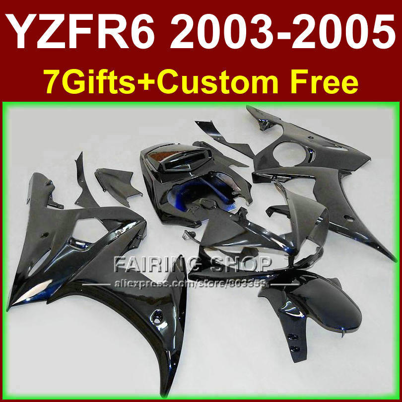 Flat black body parts for YAMAHA ABS fairings YZF R6 2003 2004 2005 fairing kit r6 03 04 05 +7gifts TY64 red black moto fairing kit for yamaha yzf600 yzf 600 r6 yzf r6 1998 2002 98 02 fairings custom made motorcycle bodywork c821