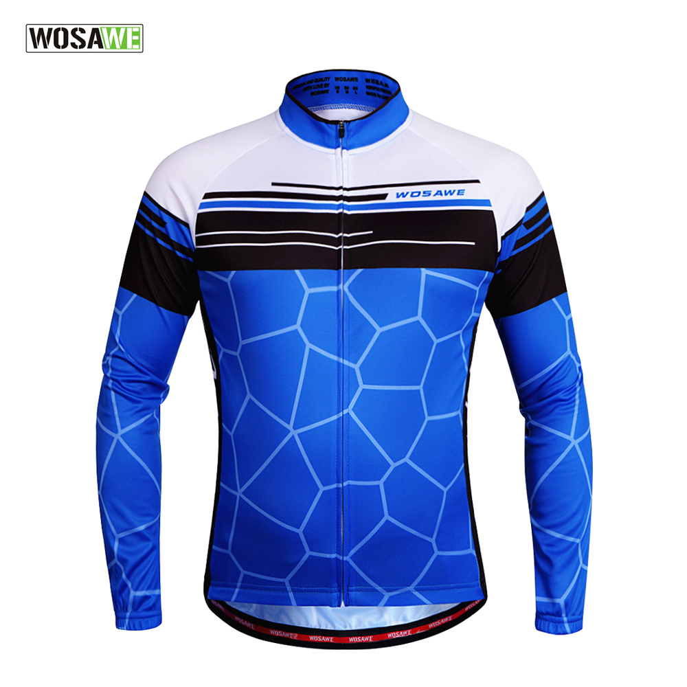 WOSAWE Ner Breathable Cycling Jersey Long Sleeve Shirts Ciclismo Maillot  Mtb Bike Jacket Cycling Clothing 3e5c484ae