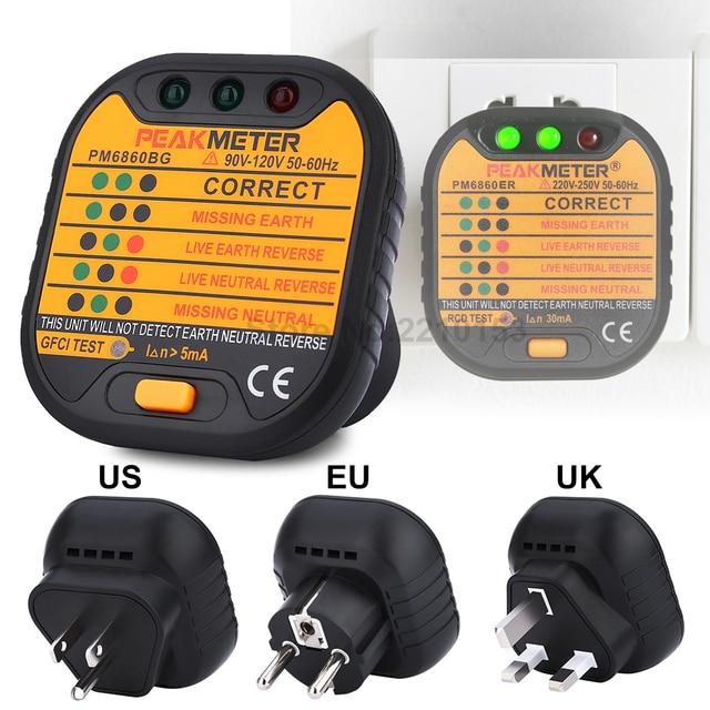 smart power outlet safety tester socket leakage voltage detector rcd rh aliexpress com