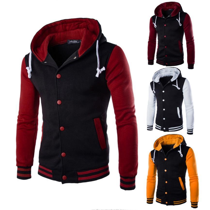 Herren Jacke Mode Baumwolle Gemischt Oberbekleidung & Mäntel Pullover Warme Mit Kapuze Jacken jaqueta masculina Männer Kleidung der 18AUG4