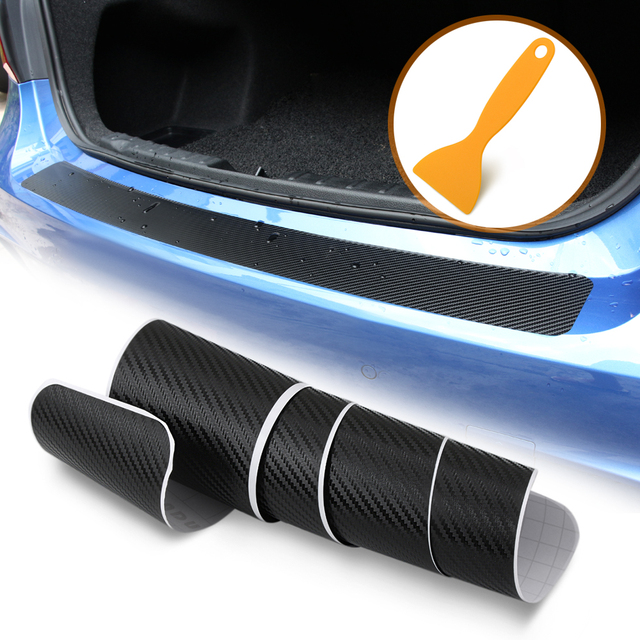 ألياف الكربون سيارة جذع الحرس لوحة المصد الخلفي حماية ملصق لرينو لاغونا 2 كابتور فلونس ميجان 2 ميجان 3 ذات المناظر الطبيعية الخلابة